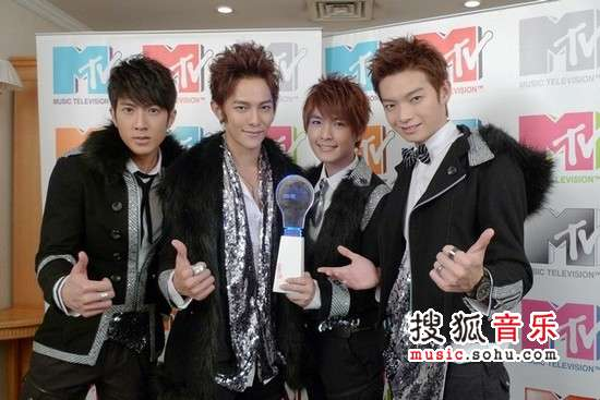 飞轮海获台湾地区台湾地区最具风格组合奖.