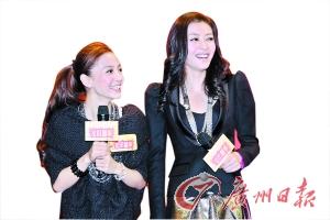 名模熊黛林(右)绯闻傍身,风头最劲,Angelababy(左)胜在青春可人,同样不输前辈。