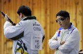 图文:东亚运男子10米气手枪 韩国选手秦钟午