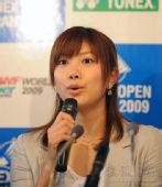 图文:日本羽球美女潮田玲子 潮田玲子眼睛闪闪
