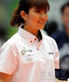 图文:日本羽球美女潮田玲子 潮田玲子美丽笑容