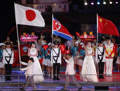 代表团入场仪式图片