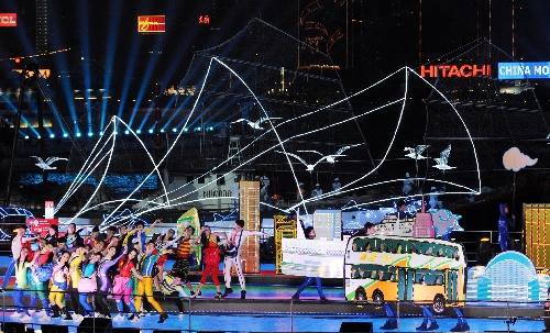 东亚会_组图:东亚运动会开幕式在中国香港举行-搜狐新闻