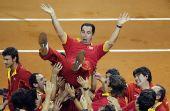 图文:戴杯西班牙3-0捷克夺冠 西班牙欢庆胜利