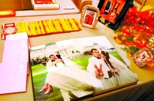 陶伟与妻子婚纱照