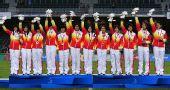 图文:橄榄球中国女队夺冠 中国女队夺得冠军