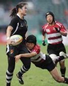 图文:橄榄球中国女队夺冠 中国队队员刘艳