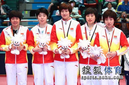 中国女乒集体合影