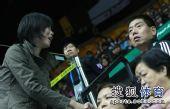 图文:中国女排3-0中华台北 张平见到老友