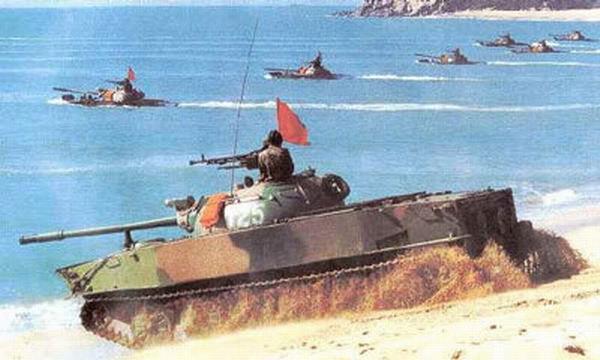 中国北方车辆研究所研制的63式水陆坦克