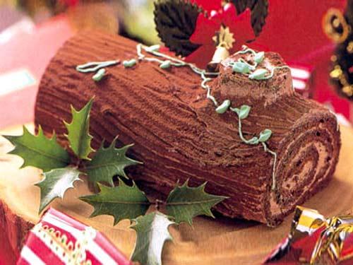 法国树干似的蛋糕