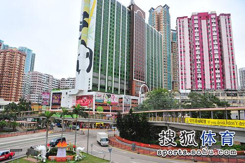 刘翔所住酒店全貌