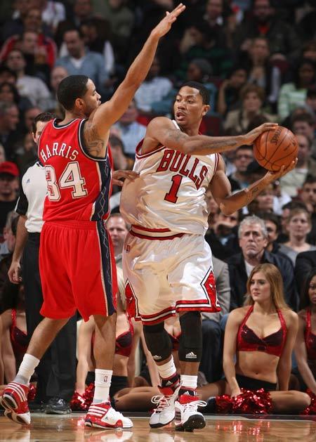 罗斯 哈里斯/图文:[NBA]篮网胜公牛 哈里斯防守罗斯