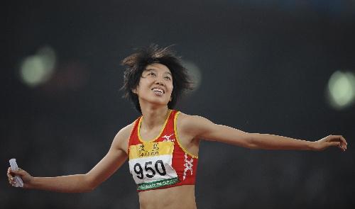 参加女子100米栏的刘翔小师妹王丽(资料图)