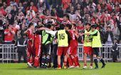 图文:东亚运男足中国香港夺冠 兴奋庆祝