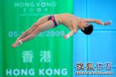 图文:男子10米台张雁全夺冠 火亮姿态标准