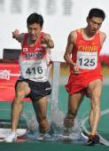 图文:男子3000米障碍赛孙文利夺冠 步调一致