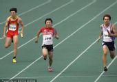 图文:男子4X100米接力中国仅获第三 最后冲刺