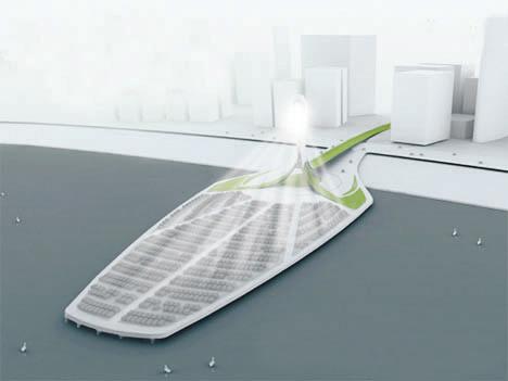 太阳光塔绿洲湖上飘浮(组图)管理与设计程序设计图片