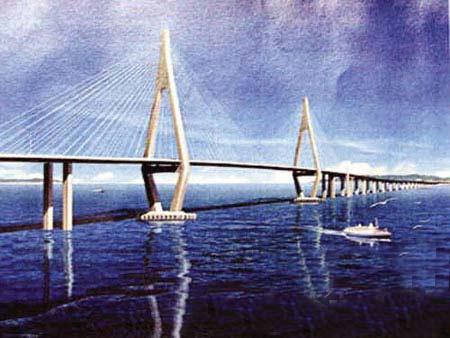 世界最长跨海大桥港珠澳大桥开建 投资700亿元