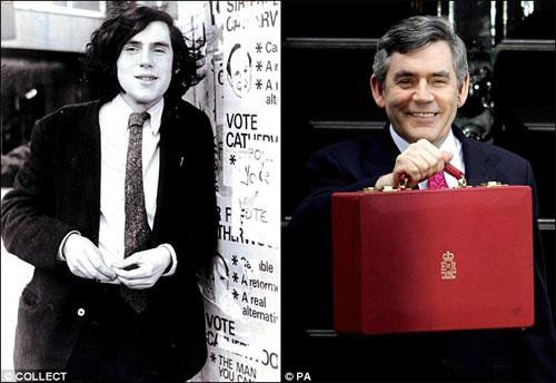 左图为布朗上大学时候的照片,右图为2007年时的布朗。