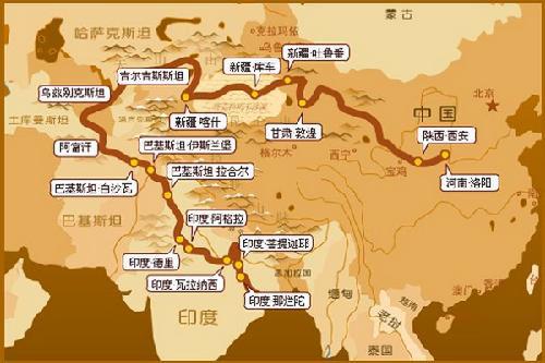 中亚地图中文版