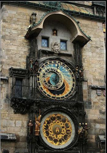 每当天文钟报时的时候,总有不少路人停下来校对手表