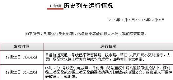 上海地铁官网截图