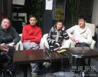 左到右:刘金山、黄磊、袁立、佟大为