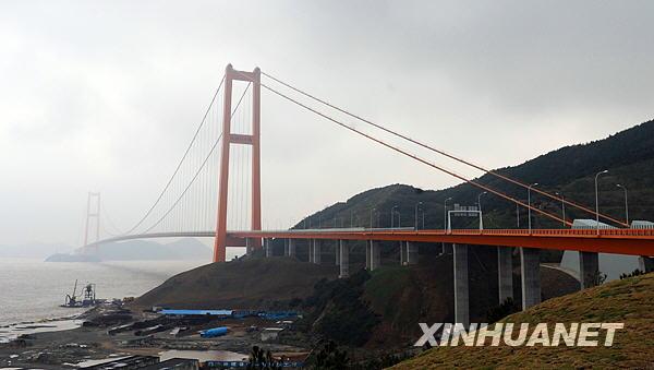这是西堠门大桥(11月17日摄)。