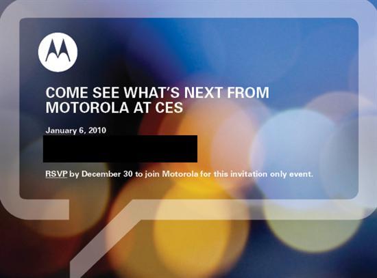 摩托罗拉将于1月7日发布多款产品