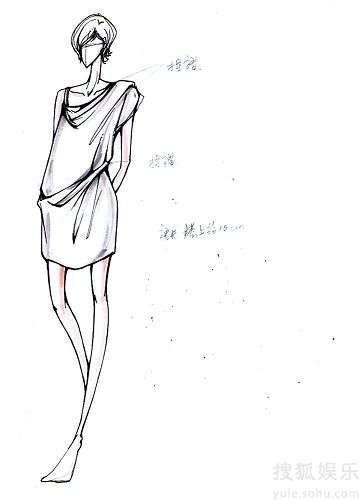 设计服装手稿1