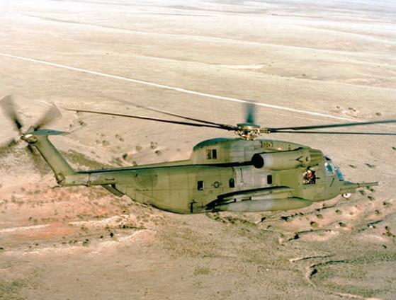 早期型号HH-53H仅在科特兰空军基地的资格和接收测试上才能见到。