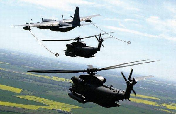 """空中加油能力是""""低空铺路""""直升机执行渗透任务深入地方领土的一项关键因素。"""