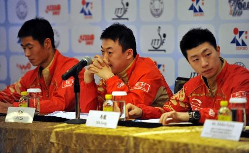 中国队三虎在发布会