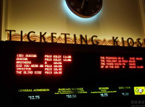洛杉矶某影城:《阿凡达》公映日当天 还有许多影片与其分账