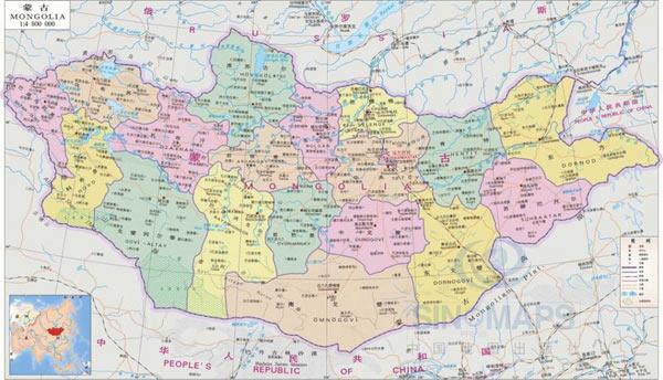 资料图:蒙古国和中国接壤
