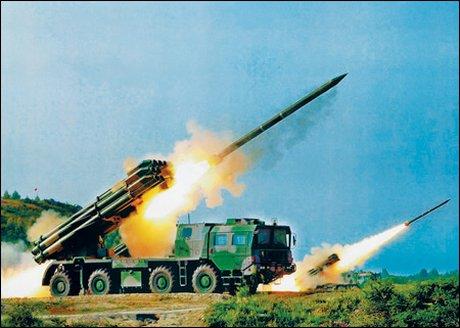 解放军装备的远程火箭炮