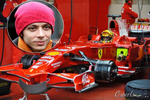 MotoGP冠军罗西将再次驾驶法拉利F1赛车