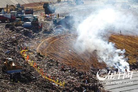 兴丰生活垃圾卫生填埋场是目前广州市生活垃圾处理的主要设施。有报道称,兴丰垃圾场将在今年被全部填满