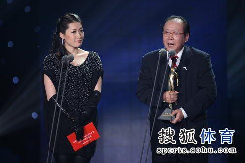 图文:体坛风云人物颁奖盛典 颁奖前嘉宾发言