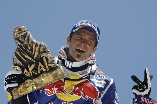 图文:2010达喀尔拉力赛落幕 摩托车冠军德普雷