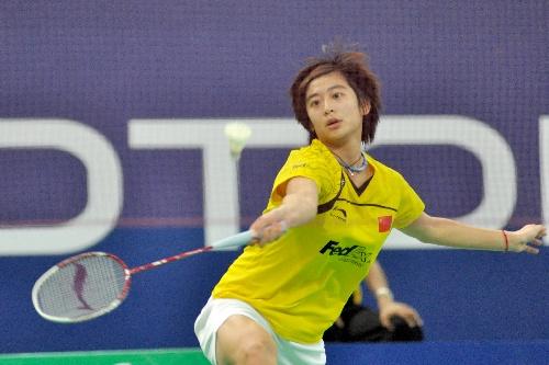 中国选手王琳亮相