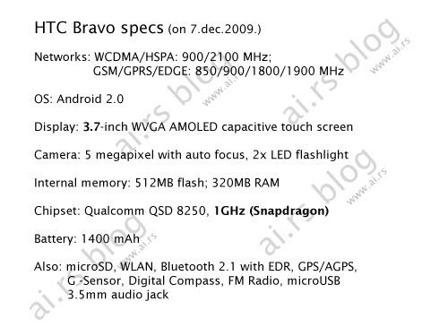 Android新旗舰 HTC Bravo清晰大图流出