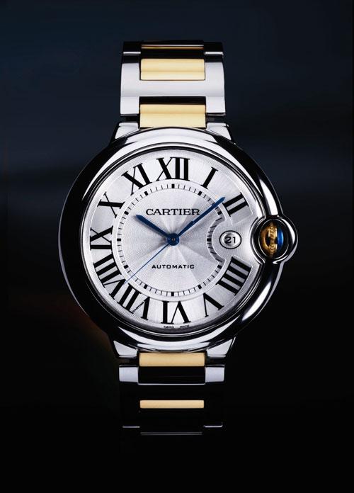 (8) Ballon Bleu de Cartier黄K金与精钢腕表