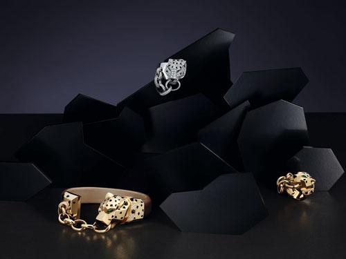 (18) Panthère de Cartier黄K金手镯、白K金及黄K金戒指