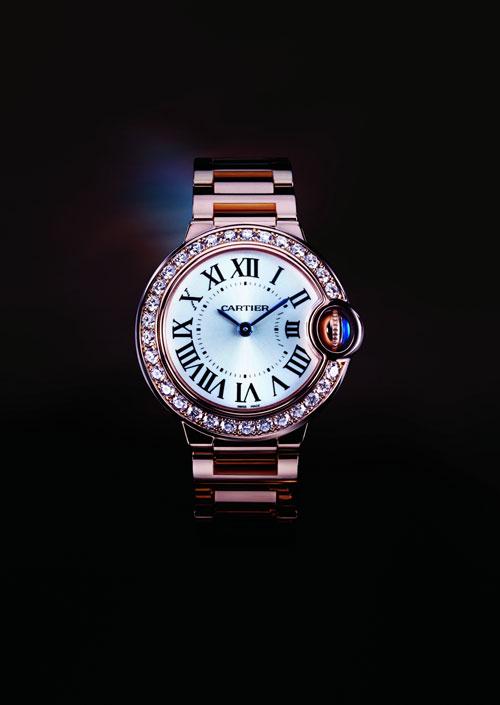 蓝气球系列玫瑰金钻石腕表