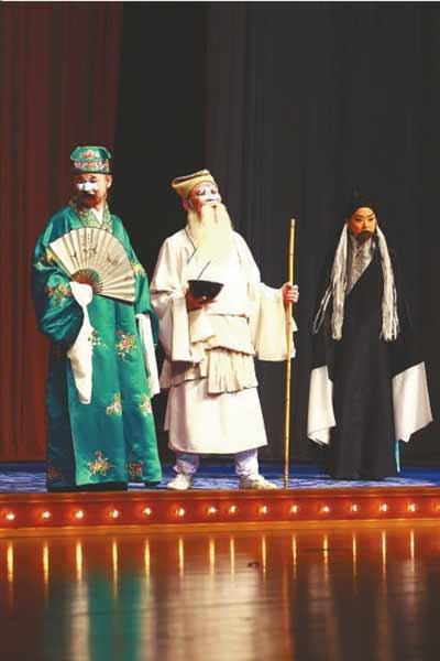 京剧《乌盆记》中马志明饰张别古。