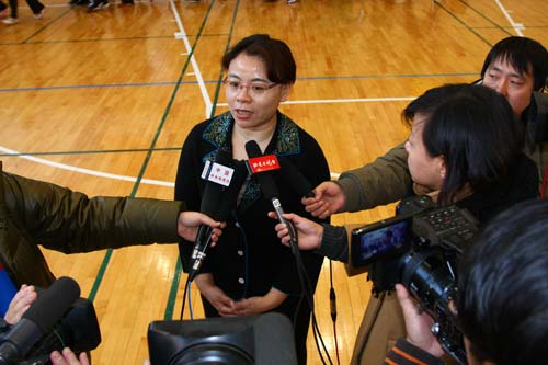 北师大实验中学杨校长接受采访