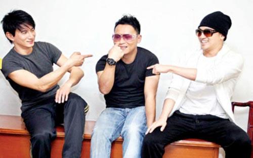 从左至右:吴奇隆、陈志朋、苏有朋